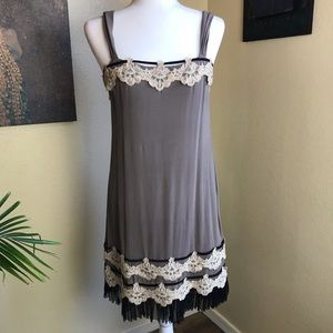 Yoana Baraschi 100% silk embellished dress
